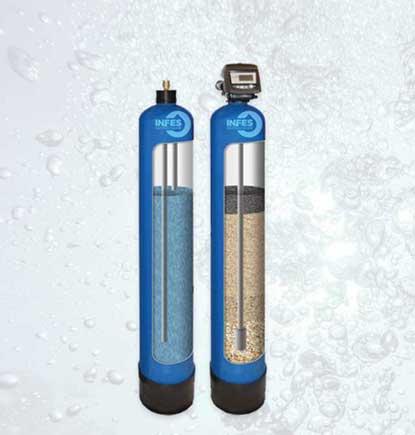 Geležies filtrai. Geležies valymo filtrai. Automatiniai geležies valymo filtrai, vandens nugeležinimo filtrai. Geležies valymo filtrai su automatine regeneracija, savaime prasiplaunantys vandens nugeležinimo filtrai. Automatiškai prasiplaunantys geležies valymo filtrai - INFES technologijos.