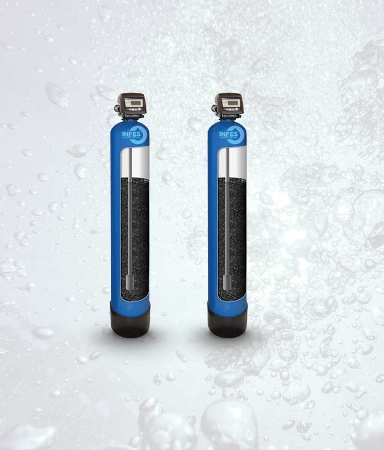 Automatinis aktyvuotos anglies filtras. Automatinis aktyvuotos anglies filtras vandeniui. Aktyvuotos anglies vandens filtras Autotrol CA-23T. Anglies filtras vandeniui, vandens anglies filtras - INFES technologijos.