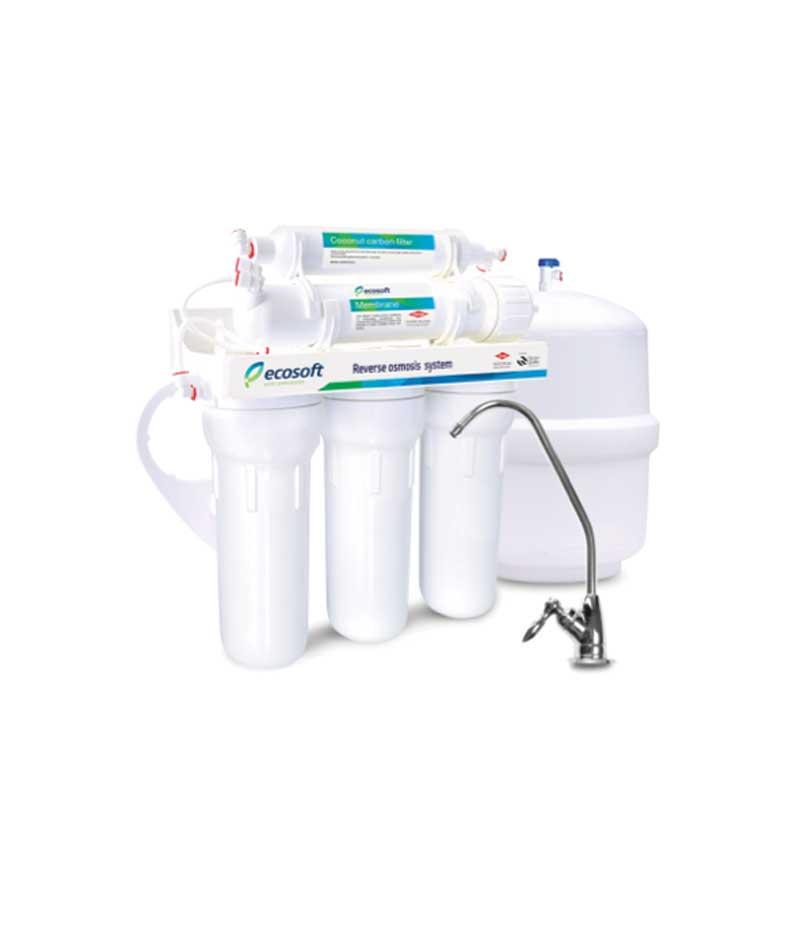 Atvirkštinio osmoso sistema RO 5-50 PE. Atvirkštinio osmoso 5 pakopų filtravimo sistema su DOW Filmtec (JAV) filtravimo membrana - INFES technologijos.