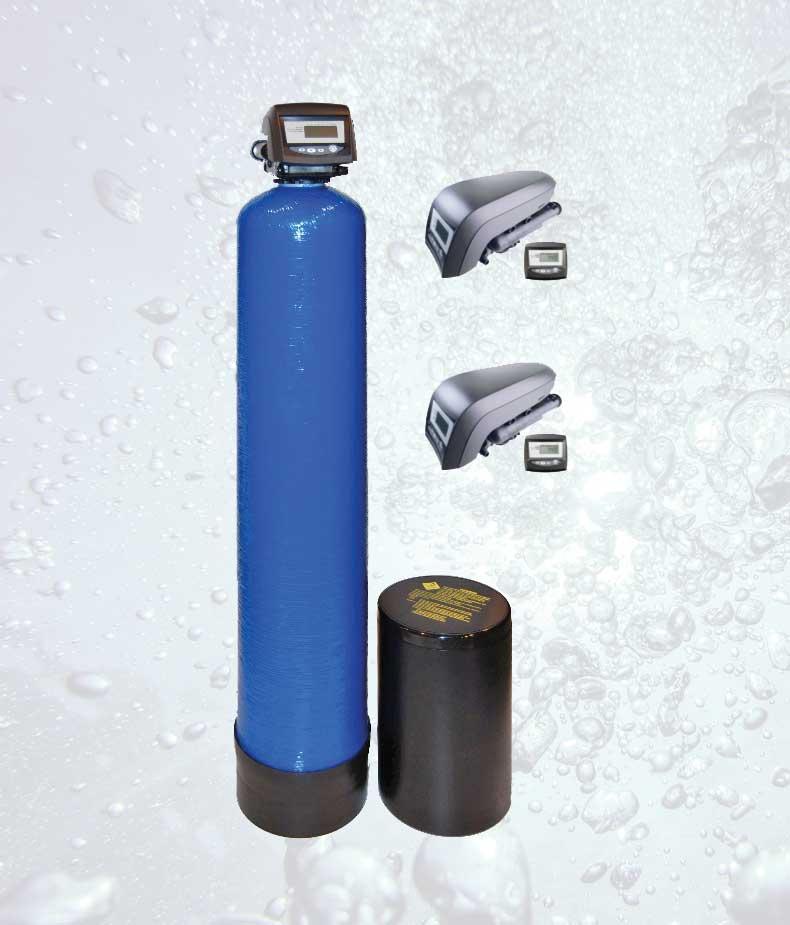 Automatinis geležies valymo filtras su kalio permanganato tirpalu. Automatinis, savaime prasiplaunantis geležies valymo filtras su kalio permenganatu. Geležies valymo filtras su kalio permenganato tirpalu - INFES technologijos.