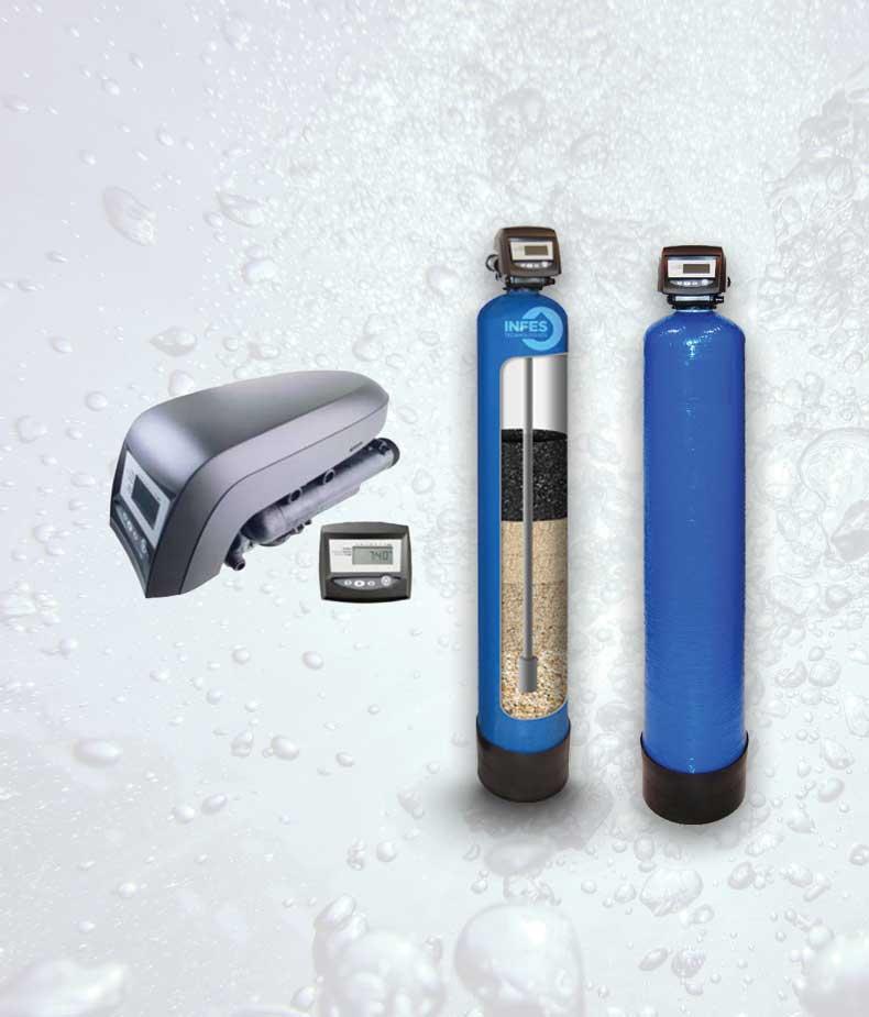 Mechaninis vandens valymo filtras - Autotrol SD 30T. Mechaninis vandens filtras su automatine regeneracija (savaime prasiplaunantys vandens filtras) – INFES technologijos.