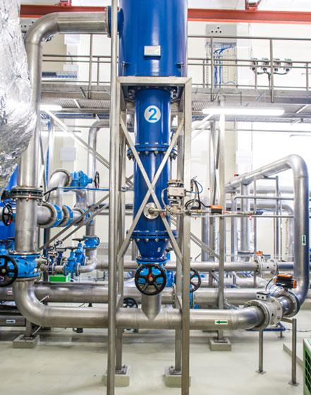 Vandens tiekimo, valymo ir filtravimo įrenginiai bei sistemos chemijos pramonei - INFES technologijos.