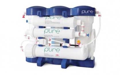 Atbulinio osmoso sistema RO P'URE su mineralizavimu. Atbulinio osmoso 6 pakopų filtravimo sistema su DOW Filmtec (JAV) vandens filtravimo membrana - INFES technologijos.